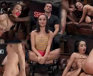 [BoundGangBangs.com / Kink.com] Isabella Nice - Gang Bang Pawn Shop: Isabella Nice Pays off Debt with All Her Holes (11.12.2019) [2019 g., BDSM, Hardcore, Anal, Blowjob, Double Penetration, Gangbang, Cumshots, Facial, Deepthroat, IR, Cum in Mouth, Vibrator, Suspension, Nipple Clamps, Ball Gag, Fingering, SiteRip, 720p]