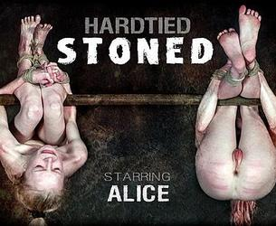 [HardTied.com] Alice (Stoned / 20.05.2020) [2020 g., BDSM, Humiliation, Torture, Whipping, 720p]