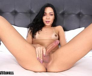 [TransAtPlay.com / Trans500.com] Hannah Rios - Stay Home with Hannah (23-04-2020 g., Transsexuals, Shemale, Solo, Small Tits, Masturbation, Cumshot, 360p]