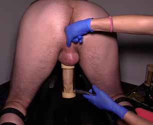 [CumClinic.com] Session 92 (20.11.15) [2015 g., Latex Gloves, Milking Bench, Prostate Milking, 1080p]